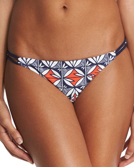 Tory Burch Acoma Reversible Printed Bikini Swim Bottom