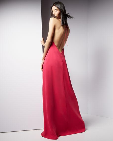 Halter Sleeveless Slip Gown