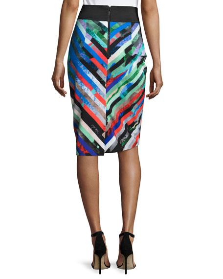 Mirage Striped Midi Skirt