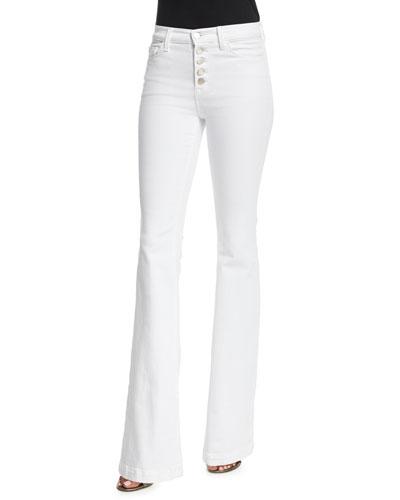 Maria Flare-Leg Jeans, White