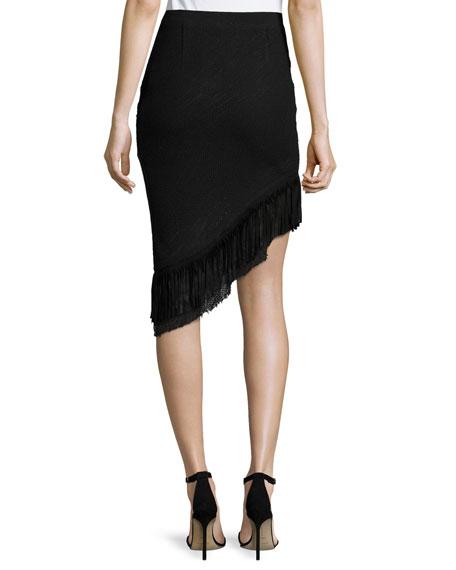 Mindy Asymmetric Tweed Skirt