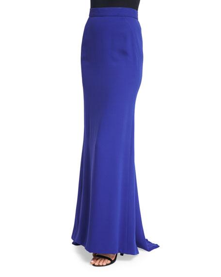 J. Mendel Mid-Rise Floor-Length Skirt, Imperial Blue