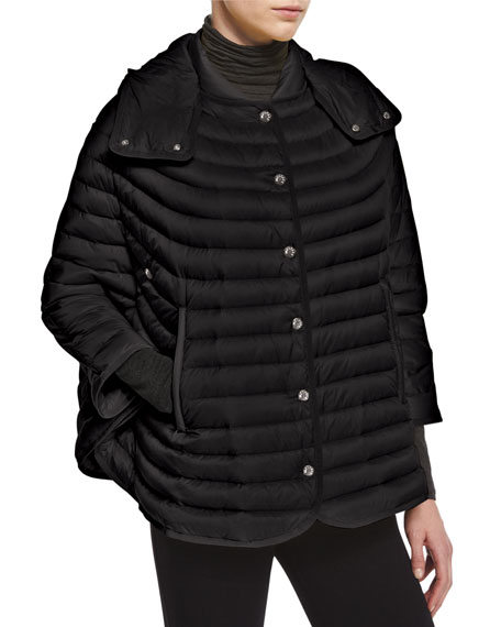 Moncler Chinchard Poncho-Style Puffer