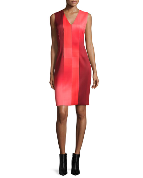 Elie Tahari Gwenyth Sleeveless Graphic Sheath Dress