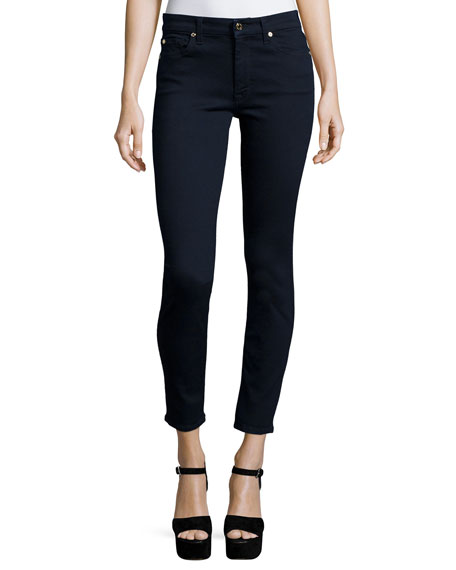 7 For All Mankind The Mid-Rise Ankle Skinny