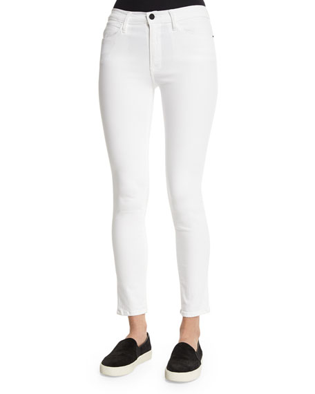 FRAME Le High Skinny Jeans, White | Neiman Marcus