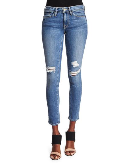 Le Skinny de Jeanne Distressed Jeans, Laurel