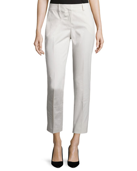 Lafayette 148 New York Mid-Rise Slim-Leg Ankle Pants,