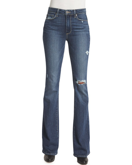 Paige Denim Bell Canyon High-Waist Jeans, Silas Destructed