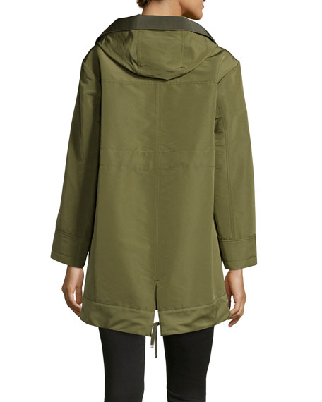 Pagel Hooded Anorak Jacket, Olive