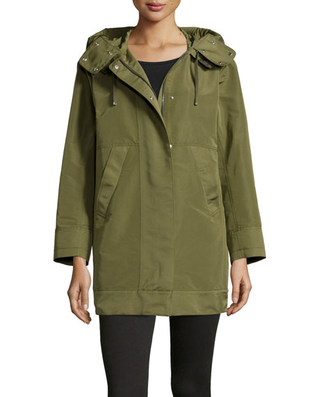 Moncler Pagel Hooded Anorak Jacket, Olive