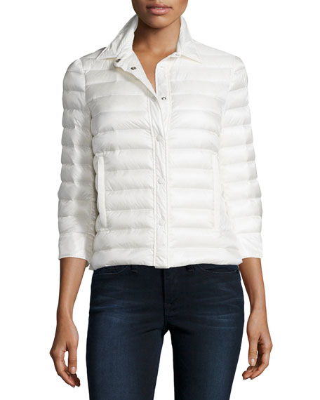 Moncler Gonelle Puffer Jacket, White