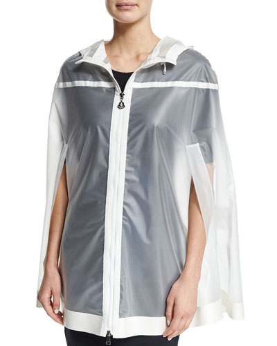 Jarret Transparent Hooded Cape