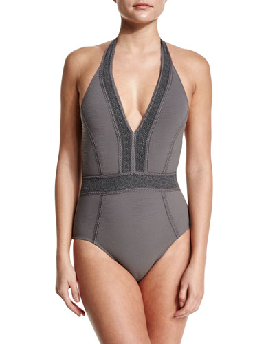 Neo Bohemia Lace-Trim One-Piece Swimsuit