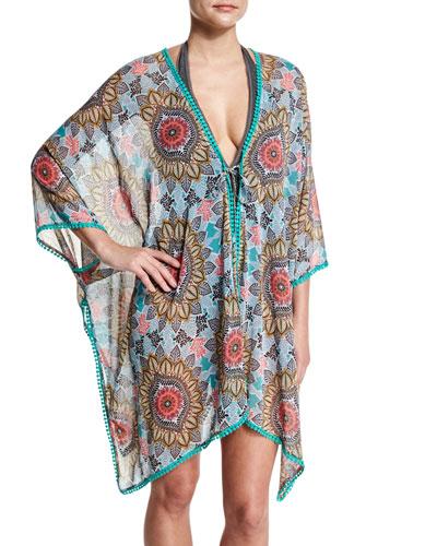 Renaissance Printed Kimono Coverup