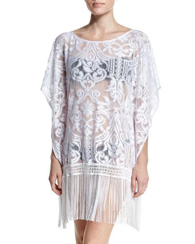 Aurora Crocheted-Mesh Coverup Dress
