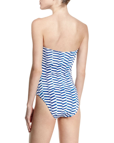 Twisted Bandeau One-Piece Swimsuit