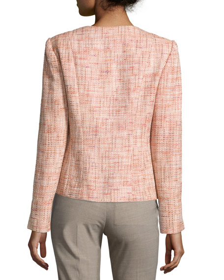 Darina Button-Front Jacket, Bouquet/Multi