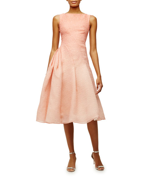 Pamella Roland Sleeveless Ombre Party Dress, Melon