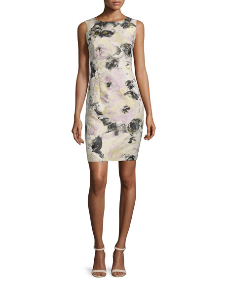 Lafayette 148 New York Evelyn Floral-Print Sheath Dress,