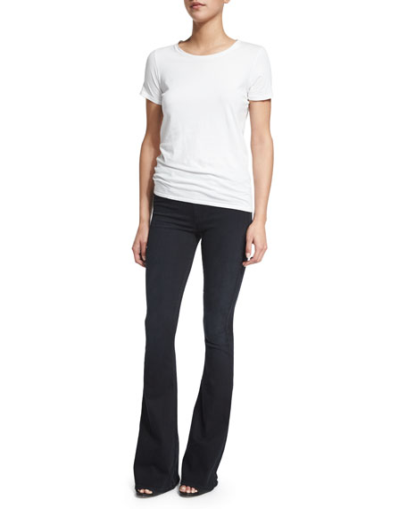 Runway Flare-Leg Jeans, Boho Black