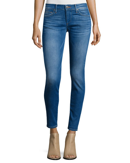True Religion Casey Super-Skinny Ankle Jeans, Blue