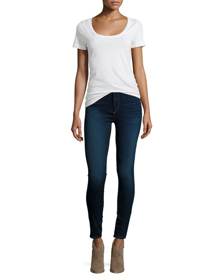 Harper High-Waist Skinny Jeans, Inky Authentic