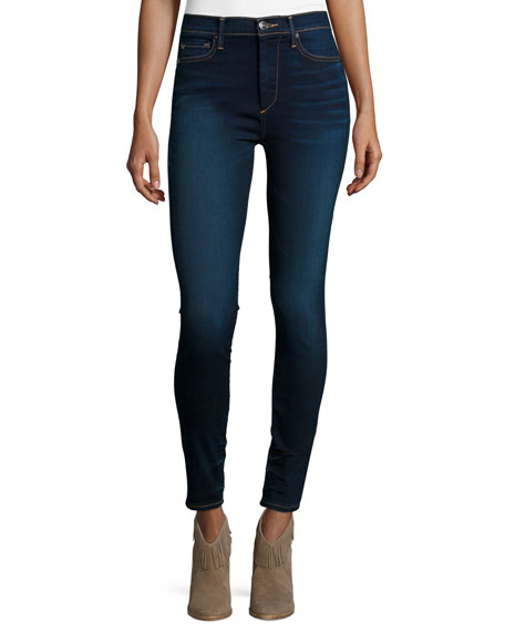 True Religion Harper High-Waist Skinny Jeans, Inky Authentic