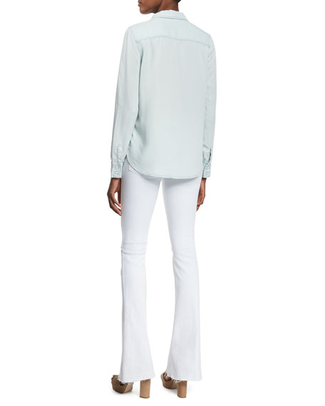 Sarah Bentley Clothing: Paige Denim Tate Button-Front Chambray Shirt, Reese