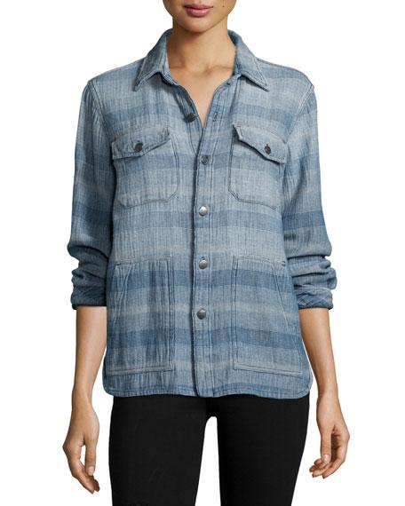 The Patch Pocket Workman Shirt, Dreamer Stripe