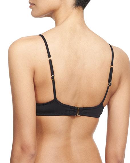 Black Sands Bralette Swim Top, Black