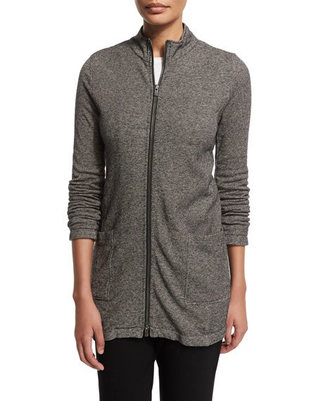 Eileen Fisher Cozy Micro-Striped Jacket, Petite