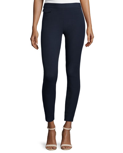 Stretch Twill High-Waist Leggings