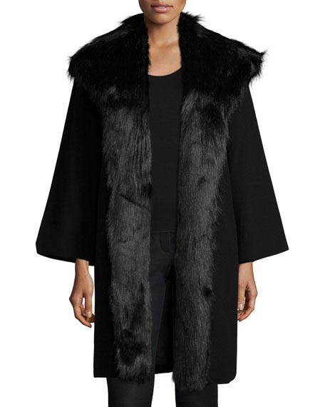 Natori Altair Panno Long Jacket, Black