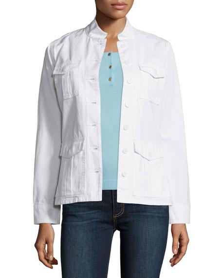Tory Burch Side-Lace Cotton Jacket