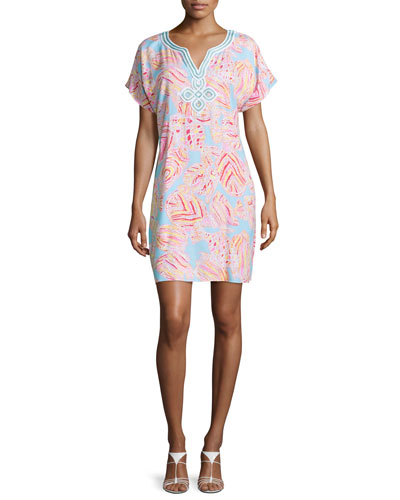 Harlow Printed Tunic Dress, Breakwater Blue