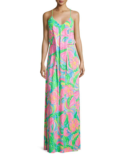 Rosa Sleeveless Printed Maxi Dress