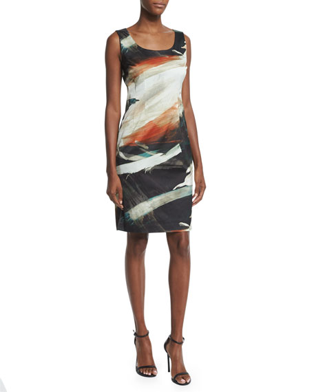 Lafayette 148 New York Rebecca Printed Sleeveless Sheath