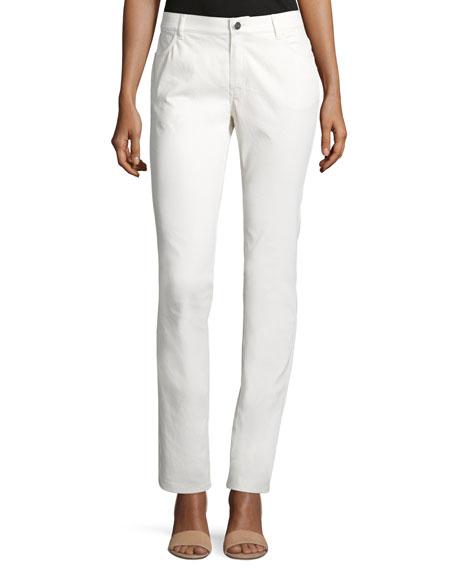 Lafayette 148 New York Curve Slim-Leg Jeans, Ecru