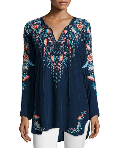 Julie Sunrise Embroidered Blouse, Women's
