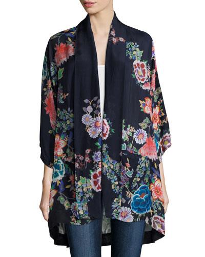 Gail Floral-Print Kimono, Women's