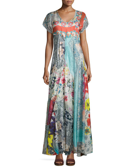 Johnny Was Collection Lulu Printed Maxi Dress