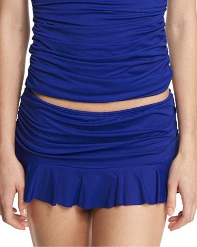 Ruffled Hipster Swim Skirt