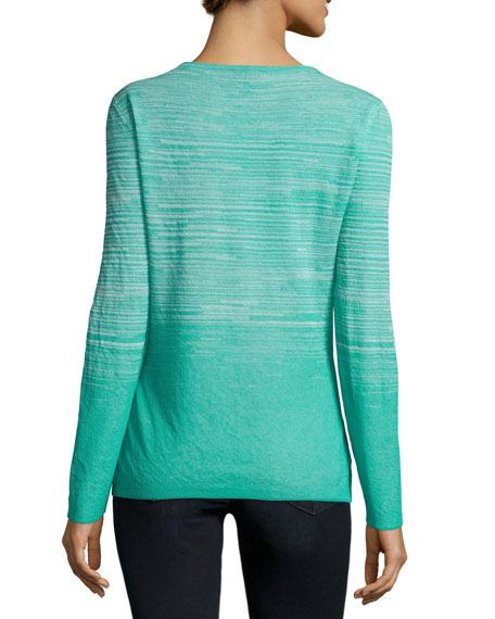 Long-Sleeve Ombre Sweater, Garden/Multi