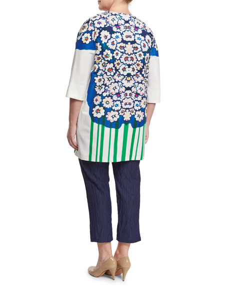 Ciclad Flower-Print Jacket, Plus Size