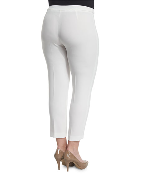 Revival Narrow Pants, White, Plus Size