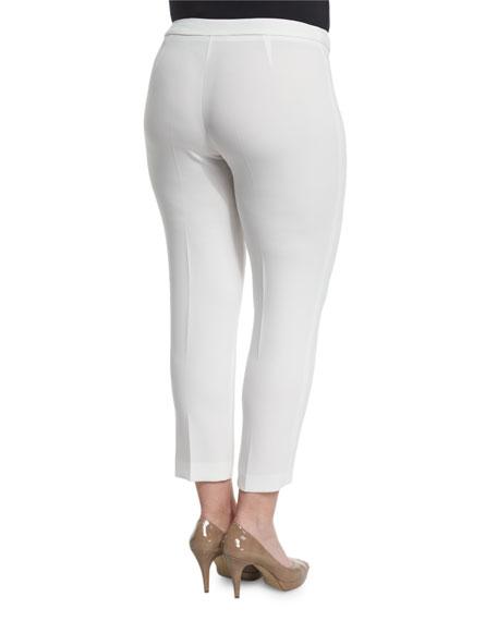 Revival Narrow Pants, White, Plus Size