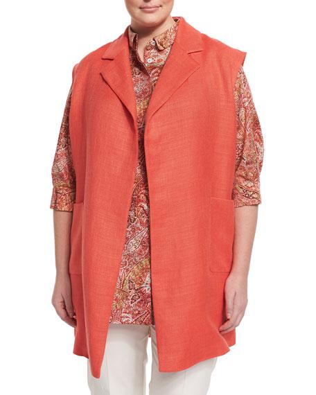 Marina Rinaldi Grano Woven Vest, Fascia Paisley-Print Tunic