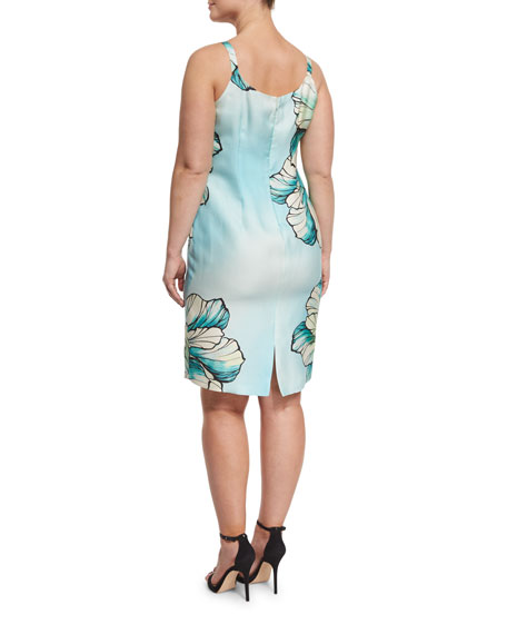 Dolomiti Flower-Print Sheath Dress, Plus Size