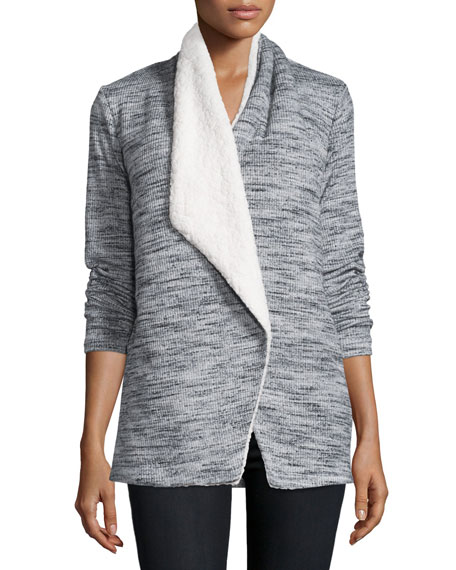Poorboy Brushed Tri-Blend Sweater, Heather Gray